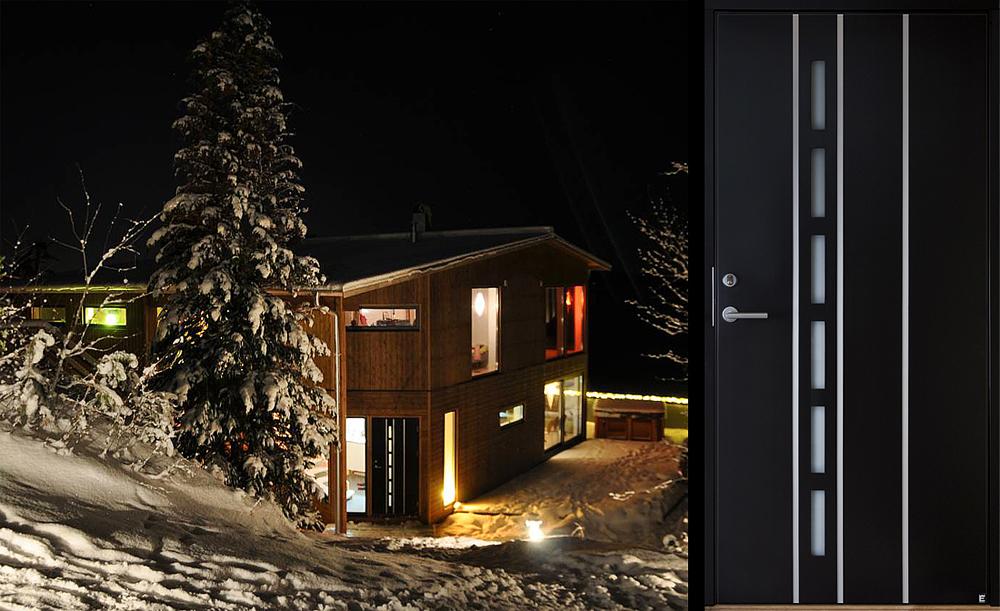 Svart ytterdörr modell Douro 104 G21 från Ekstrands
