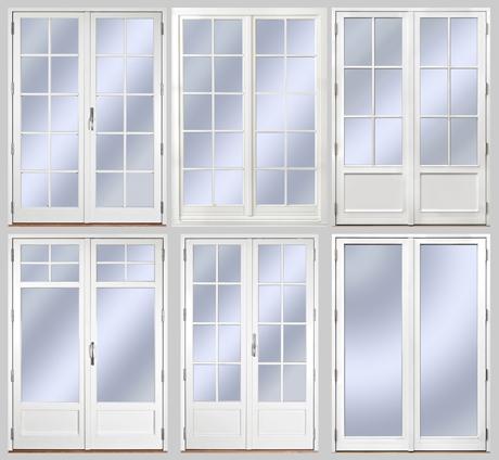 1. Utåtgående Sverige Fönster parfönsterdörr med spröjs SP4:1 2. Inåtgående Europa Fönster parfönsterdörr med avtagbar spröjs SP4:1 3. Utåtgående Sverige Fönster parfönsterdörr med isolerad bröstning och äkta wienerspröjs i trä WSP2:1 4. Utåtgående Sverige Fönster parfönsterdörr med isolerad bröstning och glasdelande post GDP1:0 och avtagbar spröjs SP1:1 5. Utåtgående Sverige Fönster parfönsterdörr med isolerad fyllning och äkta wienerspröjs i trä WSP3:1 6. Utåtgående Sverige Fönster parfönsterdörr helglasad.
