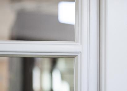 Inbrottsäkra fönster med glaslist på insidan - Glaslist på insidan med profil