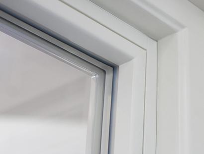 Inbrottsäkra fönster med glaslist på insidan - Glaslist insida slät