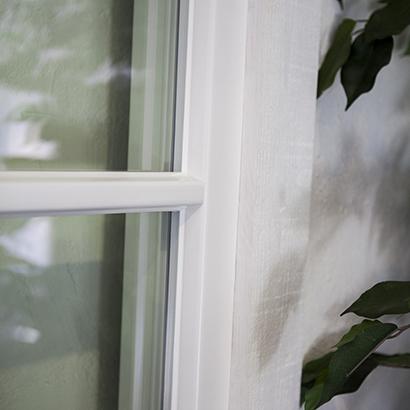 Inbrottsäkra fönster med glaslist på insidan - Ingen glaslist utsida vit