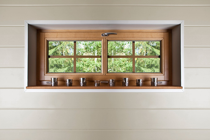 Inåtgående dreh-kip fönster som sovrumsfönster