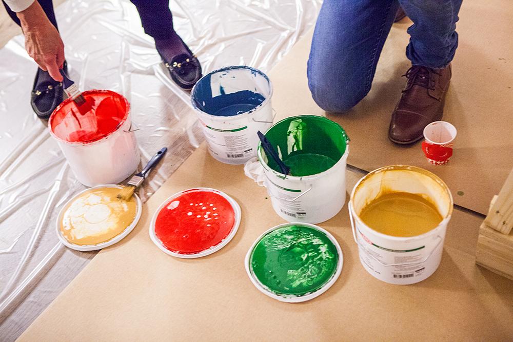 Vattenburna färger